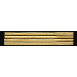 Tours de manches Capitaine-Commandant 4 galons Or 10 mm
