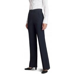 Pantalon femme Bleu Marine coupe classique 50% laine anti-tache