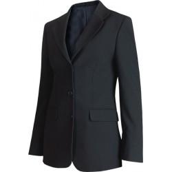 Veste femme Noire esprit tailleur, 3 boutons, bas rond