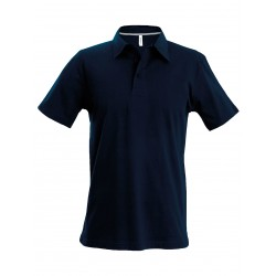 Polo bleu marine brodé Officier de Port
