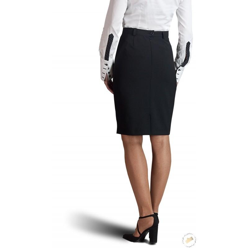 jupe coupe droite noire pour les femmes pilotes et les h tesse. Black Bedroom Furniture Sets. Home Design Ideas