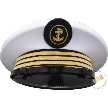 Casquette d'uniforme blanche Marine Marchande et Marine Nationale