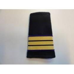 Coulants d'épaule mécanicien de la Marine Marchande, Or parement velours violet