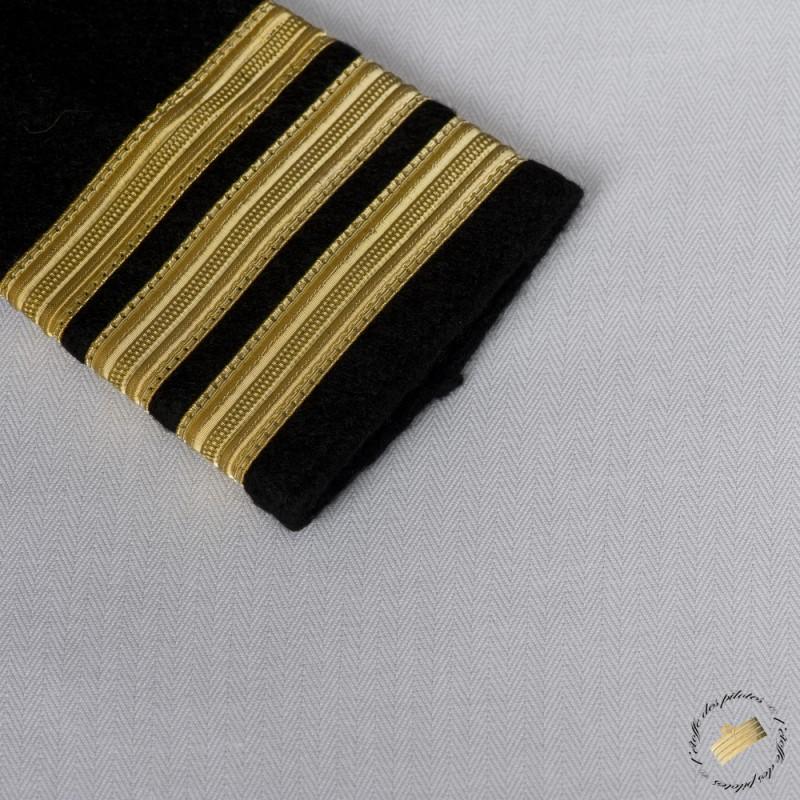 chemise homme blanche pilote et marin manches courtes tissu chevrons. Black Bedroom Furniture Sets. Home Design Ideas