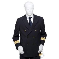 Veste d'uniforme croisée, galonnée