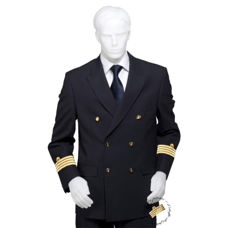 veste coupe crois e galonn e fabrication fran aise pour marine crew. Black Bedroom Furniture Sets. Home Design Ideas