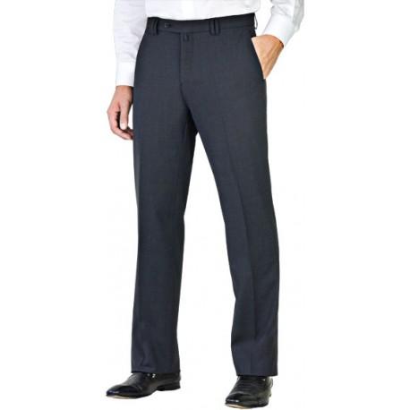 Pantalon noir coupe droite 50% laine anti-tache