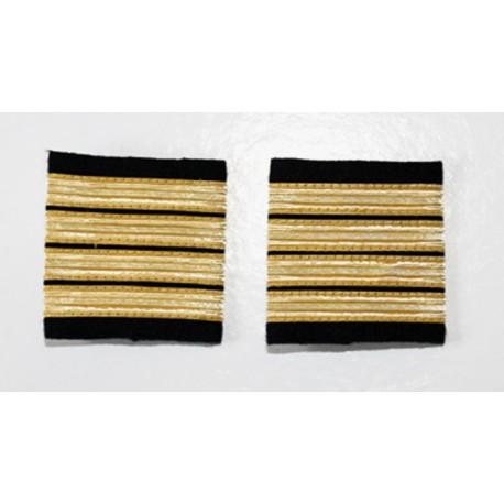 Fourreaux d'épaule Commandant - Capitaine - 4 galons Or