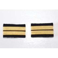 Fourreaux d'épaule Lieutenant - 2 galons Or