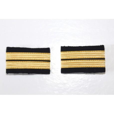Fourreaux d'épaule Lieutenant - 2 galons Or - Boucle Nelson