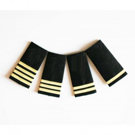 Epaulettes galonnées pour les uniformes de la Marine Marchande