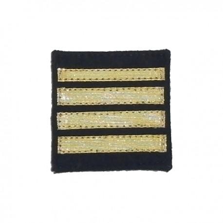 Galon sur Velcro Capitaine 2ème Classe