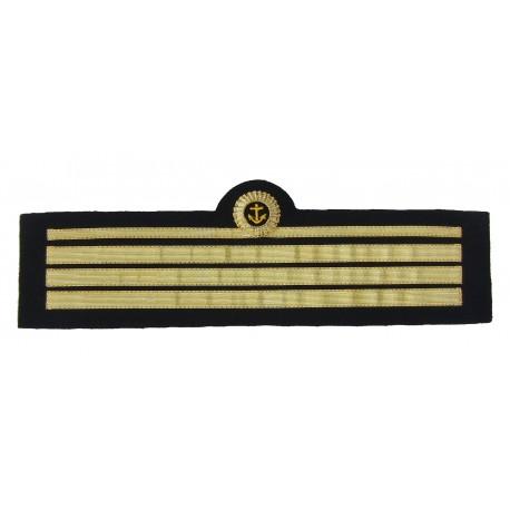Tours de manche de veste d'uniforme Officier de port, grade Capitaine 2ème Classe