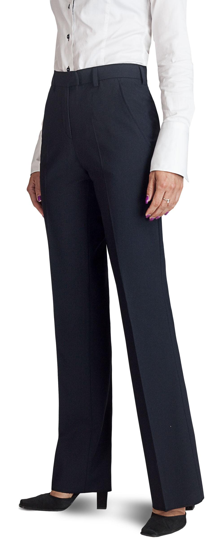 1f8a95520eac0 Pantalon femme bleu marine, coupe classique, élégance et qualité