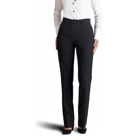 811d3816e25c8 Pantalon femme Noir coupe classique 50% laine anti-tache
