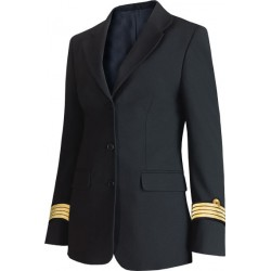 Veste femme Bleu Marine esprit tailleur, 3 boutons, bas rond