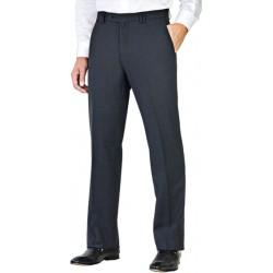 Pantalon bleu marine coupe droite 43 % laine anti-tache